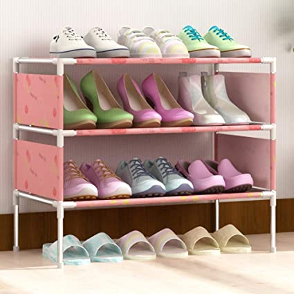 3 Tier Small Shoe Rack Organizer Cabinet Storage Holder Entryway Shoes Shelf