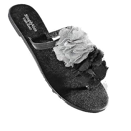 0f9a3fa39 Simply Vera Vera Wang Pom-Pom Flip-Flops (S) Black