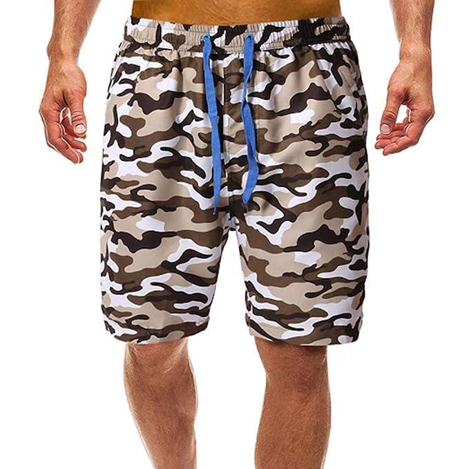 18f7d91ee22681 FRAUIT Herren Camouflage Cargo Shorts Männer Sommer Badehosen Badeshorts  Camouflage Schwimmhose Schwimmshorts Beachshorts Strand Shorts Kurze