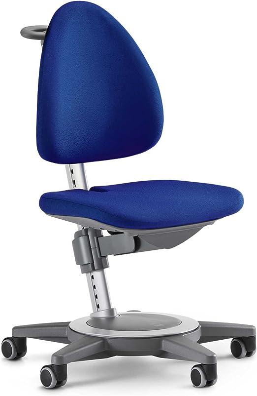 moll Kinderdrehstuhl Maximo Gestell grau Sitzbezug blau