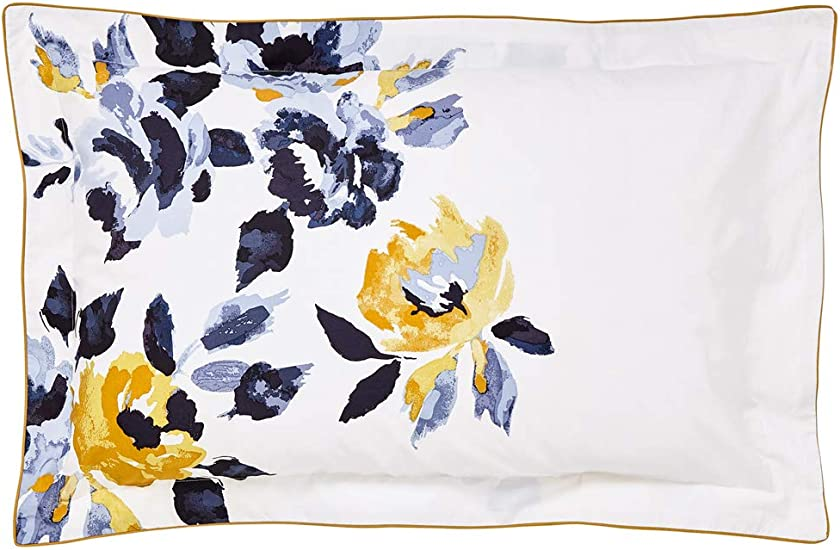 Joules Galley Grade Floral Pillow Case Oxford Chalk 100 Cotton Percale 180 Thread Count Amazon Co Uk Kitchen Home