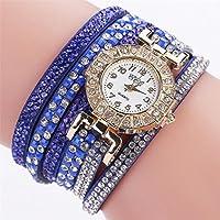 Womens Watch,Howstar Women Casual Quartz Gold Dail Rhinestone Watch Bracelet Watches