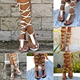 Women Gladiator Sandals Flat,Summer Strappy Lace Up Open...