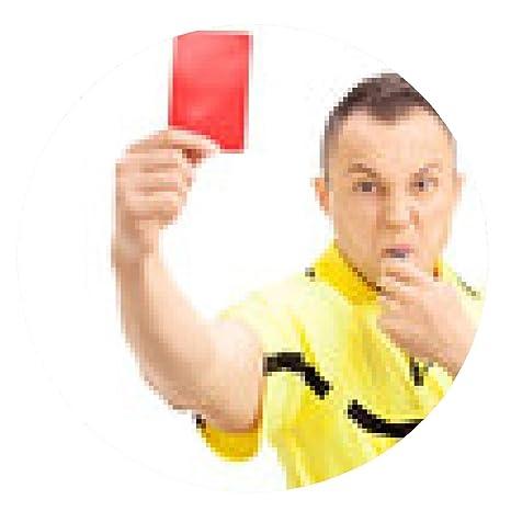 alfombrilla de ratón árbitro de fútbol furiosa que muestra ...