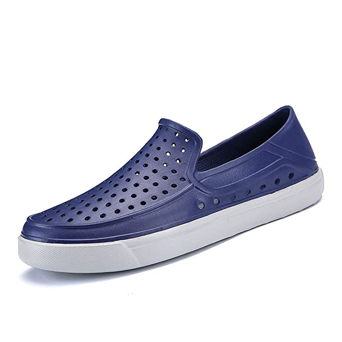 Chancletas Hombre, YiYLunneo Zapatos Perezosos Chanclas De Agujero Masculino Sandalias Transpirables Moda Sneakers Zapatillas Deporte: Amazon.es: Ropa y ...