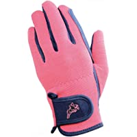Hy5 Children/Kids Every Day Two Tone Riding Gloves (M) (Black/Purple)