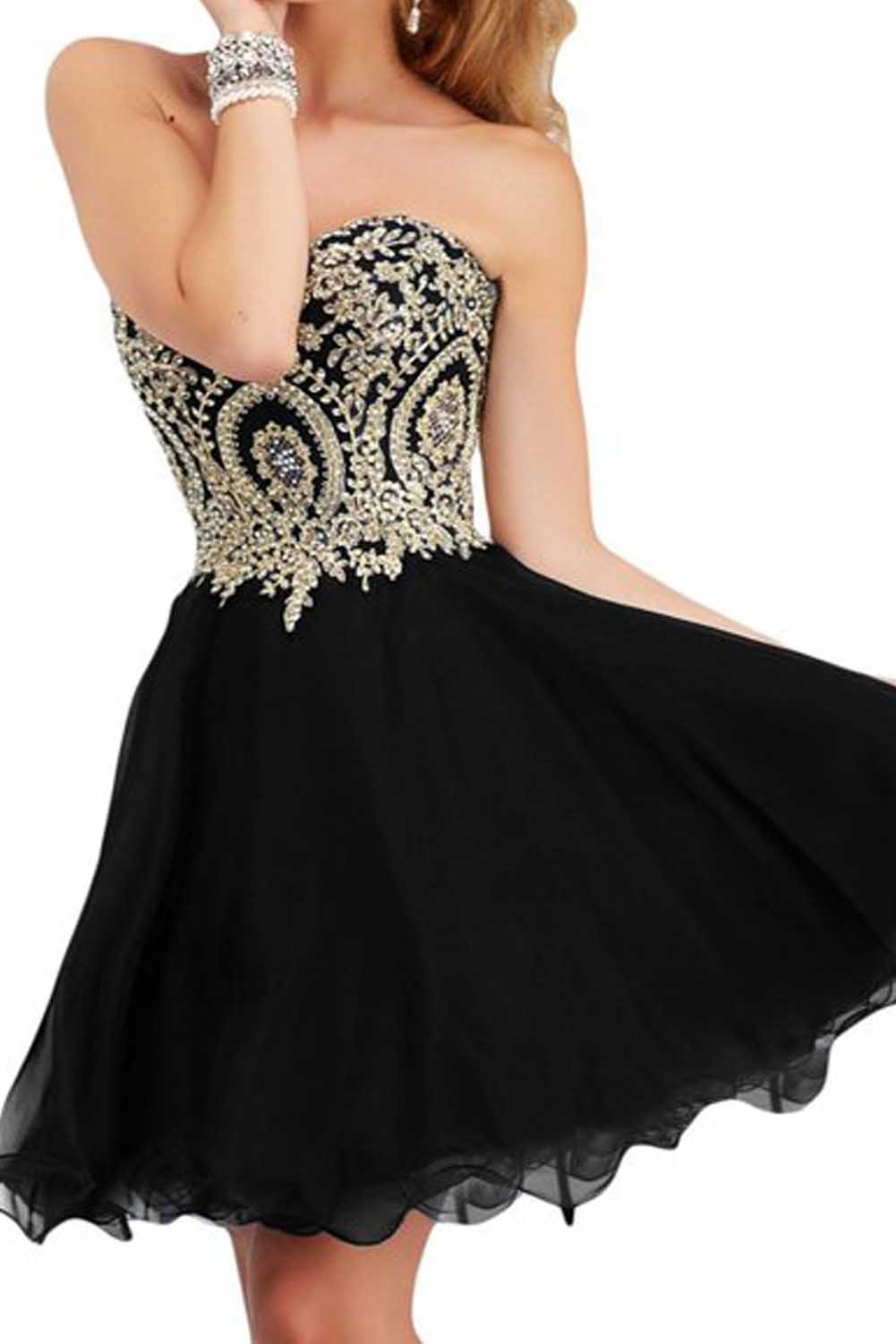 Short Black Prom Dress: Amazon.com