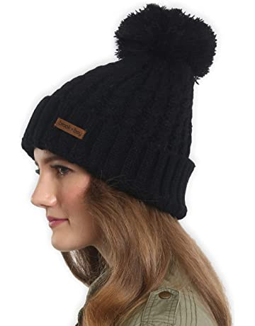 1f3bedda2df Brook + Bay Faux Fur Pom Pom Beanie - Stay Warm   Stylish with Thick