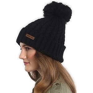 77973a7cb Amazon.com: OMECHY Women's Winter Knit Hat Trendy Slouchy Beanie ...