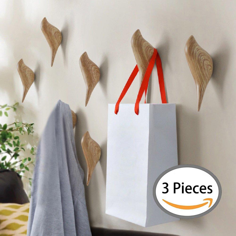 YOHEE 3D Creative Wall Decoration Bird Mural Bedroom Door Hooks Coat ...