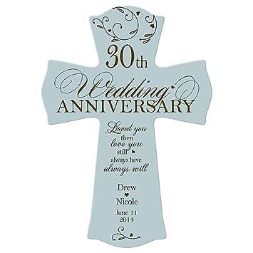Personalisierte 30 Hochzeitstag Wand Kreuz Geschenk Fur Parchen 30