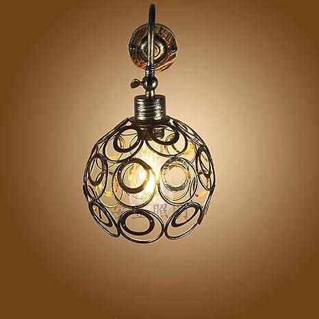 retro small iron wall lamp lighting vintage Loft American industrial ...