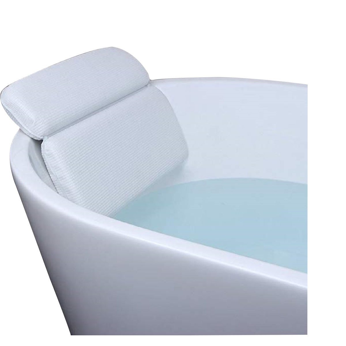 JMsDream Bathtub Pillow Spa Pillows with Strong Suction Cups Support Back and Neck, Anti-Mold/Mildew, Non-Slip, Comfortable Neck Headrest Waterproof