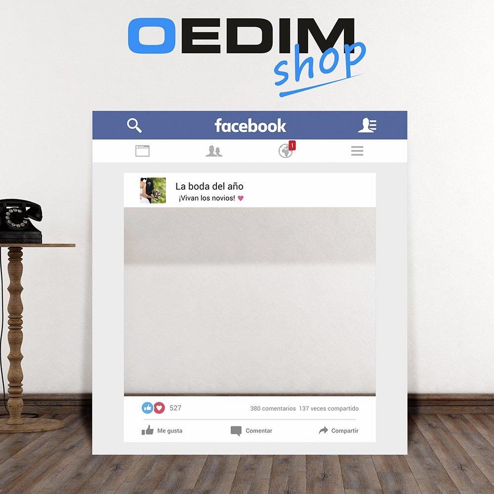 Photocall Facebook Bodas | Marco o ventana Facebook (Sin ...