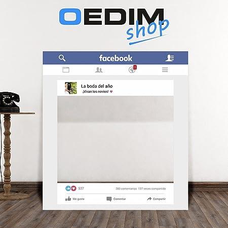 Photocall Facebook Bodas | Marco o ventana Facebook (Sin personalizar)