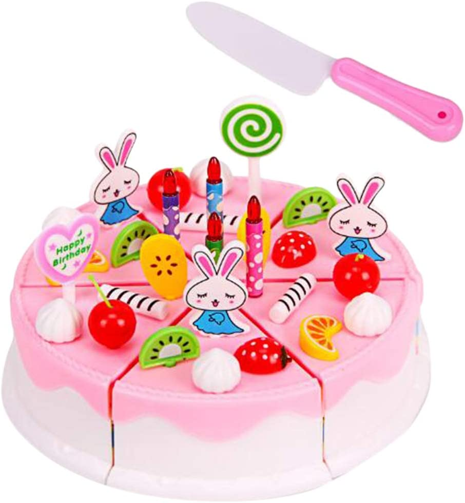 Admirable Toygogo Role Play Toy Birthday Cake Accessories Diy 44 Pieces Set Personalised Birthday Cards Veneteletsinfo