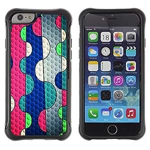Paccase / Suave TPU GEL Caso Carcasa de Protección Funda para - Abstract Lines Pink Bubble Blue Teal - Apple Iphone 6 PLUS 5.5