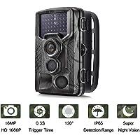 Suntekcam Camera de Chasse 16MP 1080P Trail Camera avec 42 Infrarouges de 940nm LED Vision Nocturne Infrarouge 65pieds Temps de déclenchement 0.3S Angle de dét 120 Degrés Vision Nocturne IP65 Étanche