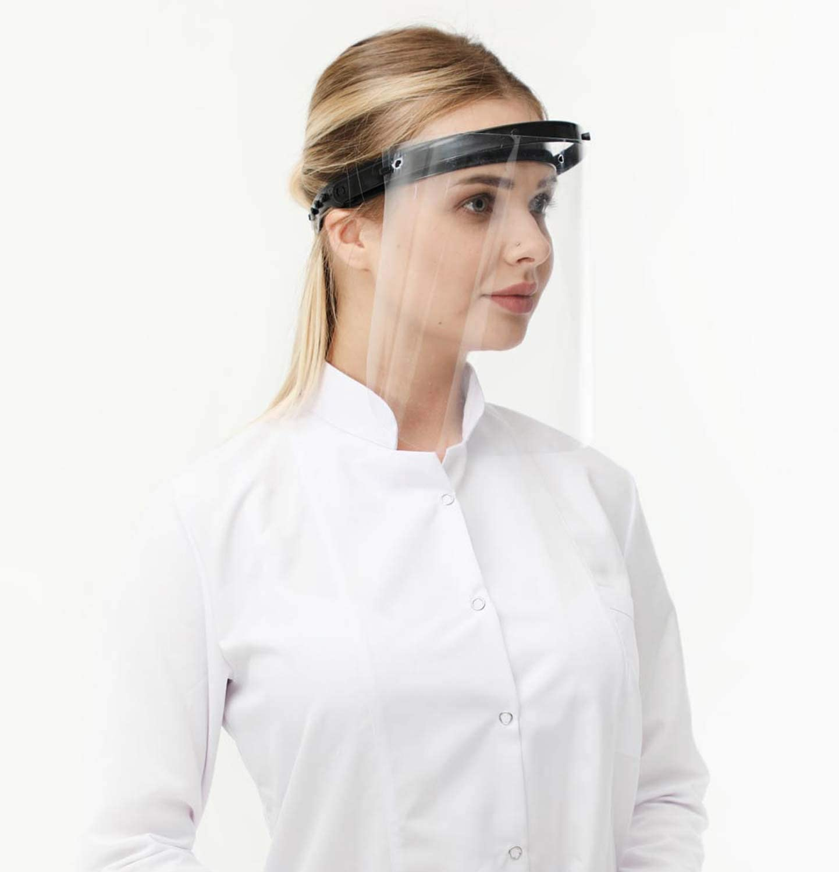 mujeres negro Cara transparente con banda de goma ajustable para hombres Protector de rostro de pantalla de protecci/ón ocular para v/ómitos