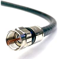 GAREL - RG6 Coaxial Cable (Coax Cable) - Made in Canada Connectors, F81 / RF, Digital Coax - AV, CableTV, Antenna, and…