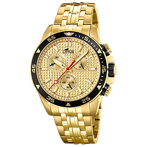 25ad98cefc2f Lotus Reloj Cronógrafo para Hombre de Cuarzo con Correa en Acero Inoxidable  18653 1  Amazon.es  Relojes