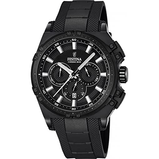 men chrono watch colour bike dial steel black stainless s and with festina chronograph watches quartz bracelet dp display