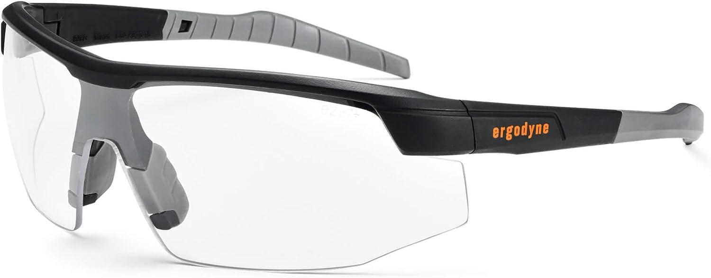 Ergodyne Skullerz SKOLL Safety Glasses-Matte Black Frame, Anti-Fog Clear Lens,Anti-Fog Clear Lens, Black Frame