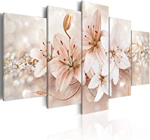Abstract Flower Canvas Wall Art Canvas Print Wall Decal Painting Home Decor Decorations Bedroom Office Artwork Large (B, Overall Size 40''x20'')
