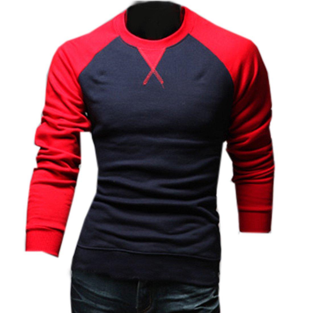 Cozy Age Men's Contrast Color Casual Sports T-shirt