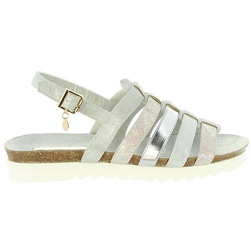 68d1085daf3 Xti Sandales pour Femme 30435 Metalizado Plata Taille 40  Amazon.fr ...