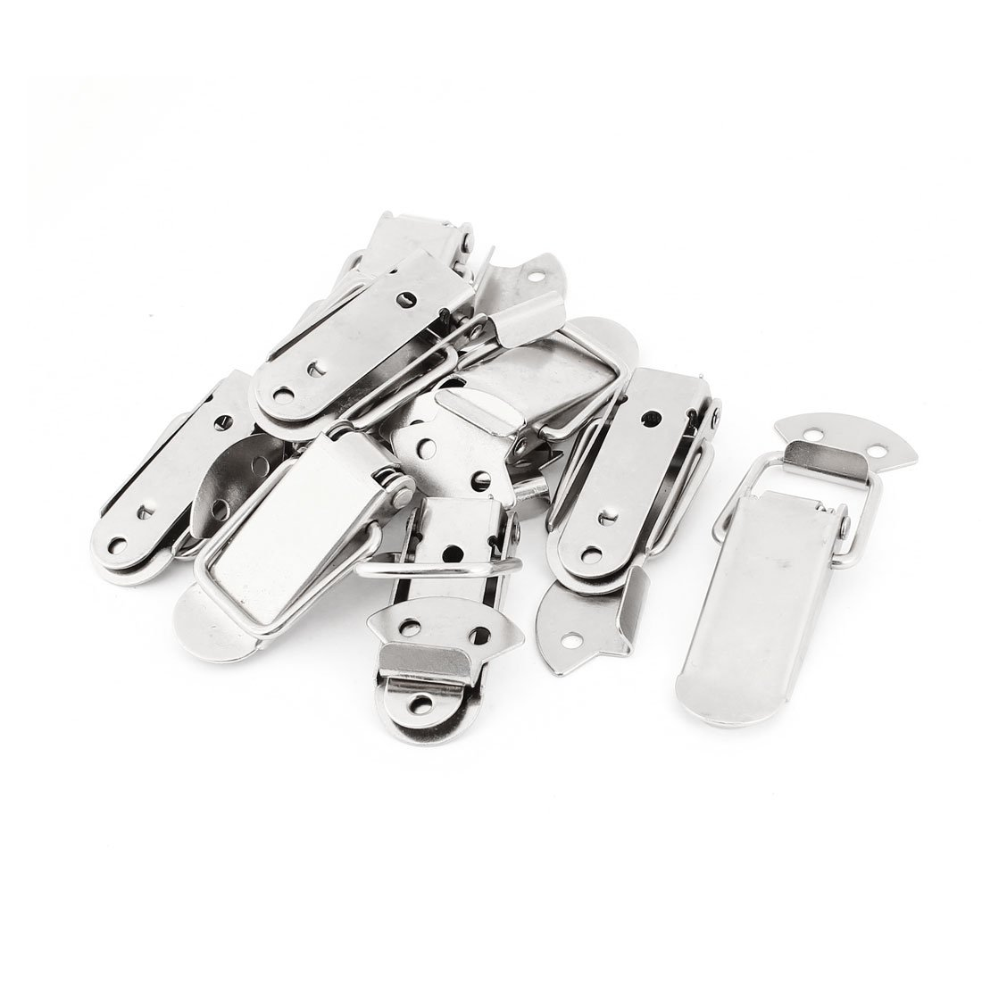Uxcell Hardware Chests Boxes Spring Loaded Toggle Latch Catch Hasp, 10-Pack