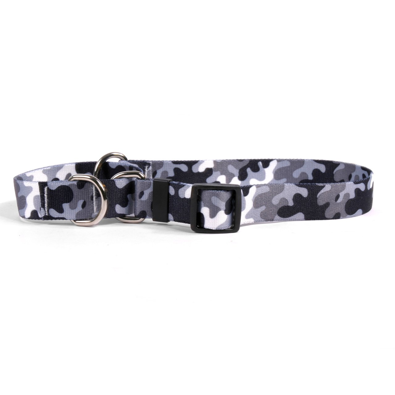 Extra Small 10\ Yellow Dog Design Black And White Camo Martingale Dog Collar Fits Neck 9 To 12 , X-Small 3 4