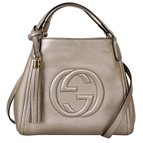 Gucci-Soho-Leather-Shoulder-Handbag-336751-Brown-Taupe