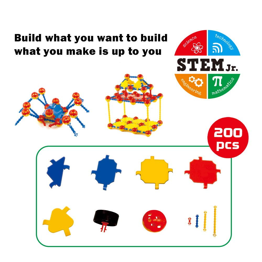 Limei International STEM Building Block Set Toy Bricks Space Ball Brick for Kid Boy Girl Child (200Pcs)