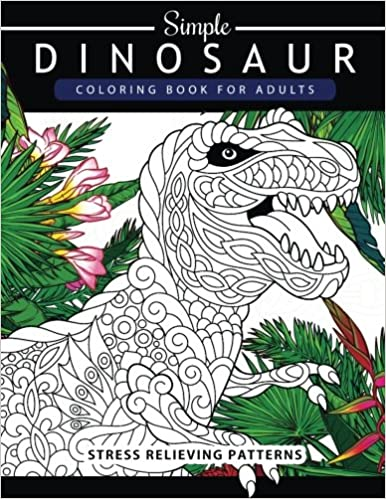 Amazon.com: Simple Dinosaur Coloring book for Adults and Kids ...