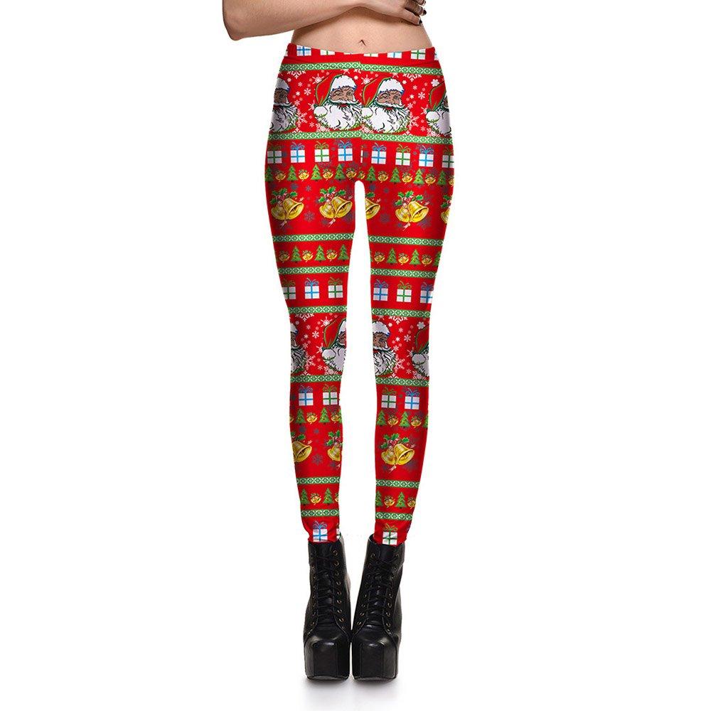 8582d992e0 Red Christmas Santa Yoga Pants Leggings Printed Graphic Leggings Sexy 2016  Hot Style Butt Lift High Waist at Amazon Women's Clothing store: