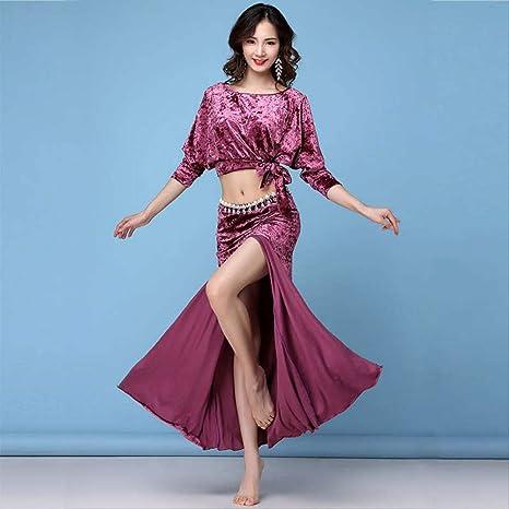 KLMWDDPWY Danza del Vientre Mujer Winter Spring Women Belly ...