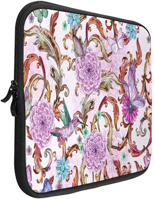 Fantasy Purple Floral Laptop Sleeve Case 15 15.6 Inch Briefcase Cover Protective Notebook Laptop Bag