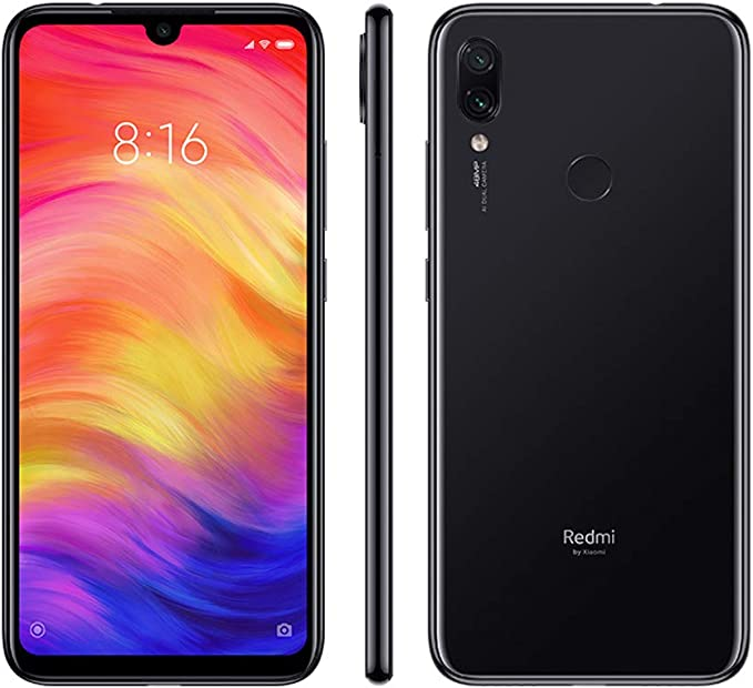 XIAOMI Redmi Note 7, Smartphone, LTE, Système d'exploitation: Android 9 (Pie), Capacité: 64 GB, écran FHD+, 19.5:9, 409ppi. 6.3 pouces, Camera 48+5 MP, f1.8, auto HDR