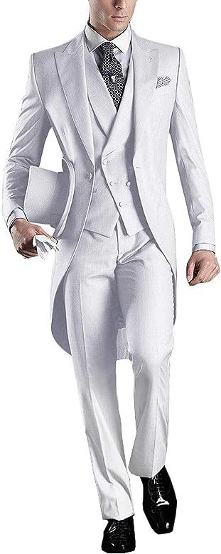 GEORGE BRIDE - Traje - para Hombre Blanco Blanco 3XL: Amazon ...