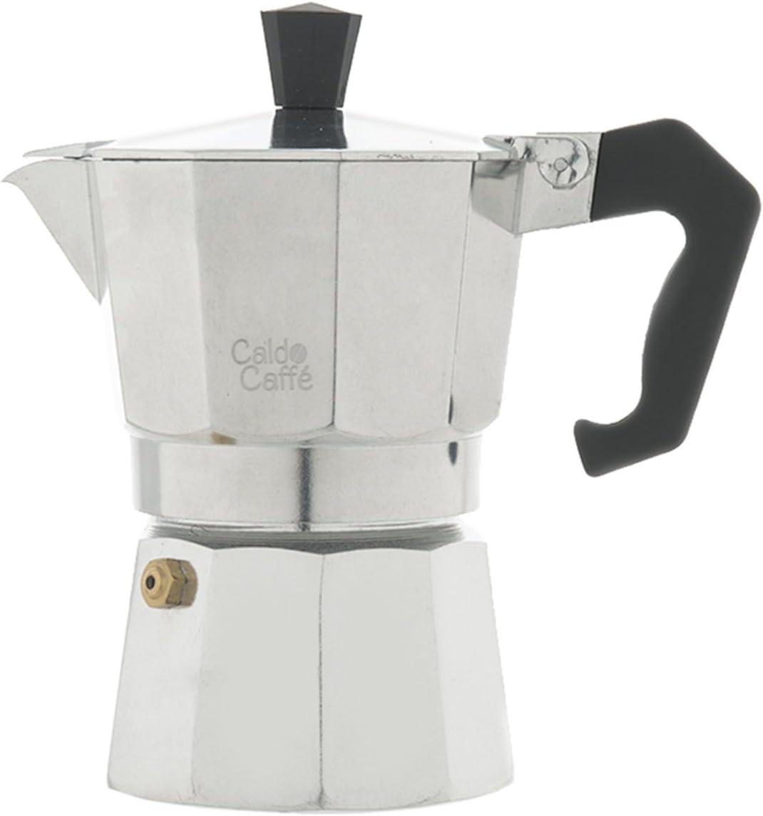 Home Caldo Caffè -Cafetera Moka para Espresso, 3 Tazas, Aluminio ...