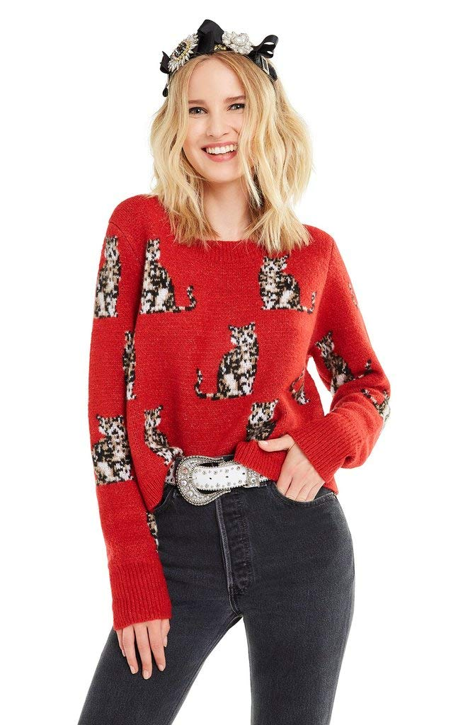 Wildfox Seeing Cats Dali Sweater Scarlet