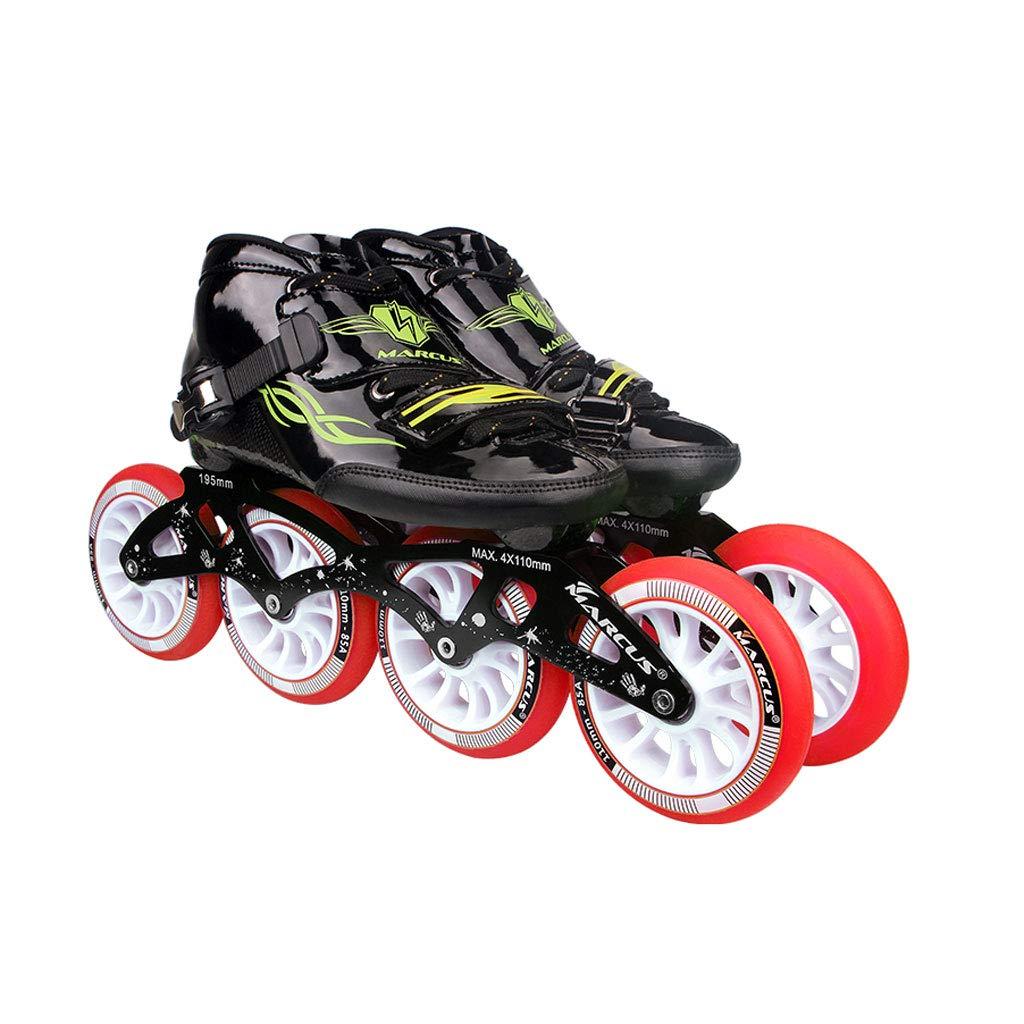 ailj ローラースケート4輪90MM-110MM車輪調整可能なインラインスケート、ストレートスケートシューズ(4色) (色 : 黒, サイズ さいず : EU 46/US 13/UK 12/JP 28cm) B07HL5RHDQ EU 40/US 7.5/UK 6.5/JP 25cm Red Red EU 40/US 7.5/UK 6.5/JP 25cm