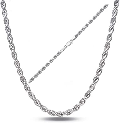 Made in Italy Sterling Silver Chain Necklace Orabelle Jewelry Sterling Silver 3MM Bead Ball Moon Cut Chain Necklace 16-30 Inch