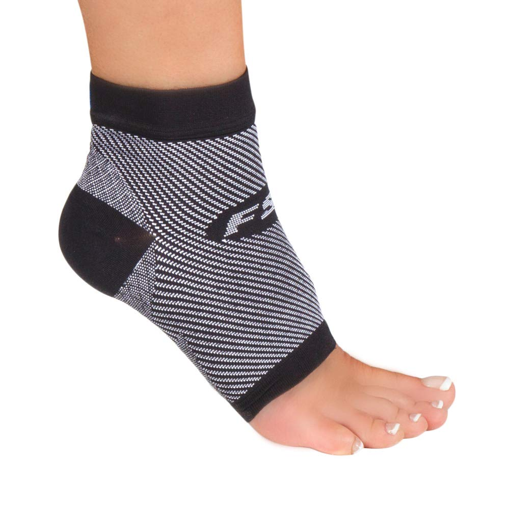 OrthoSleeve FS6 Compression Foot Sleeve (Pair), Black, Large by OrthoSleeve