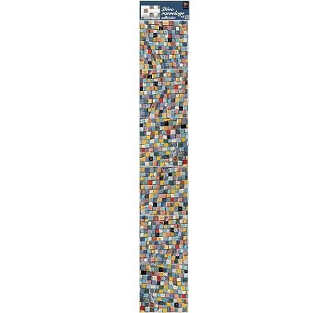 6 Unidades 15x15 cm Plage Escandinavo Lichen Decoraci/ón Adhesiva para Azulejos Vinilo Multicolor