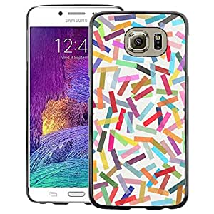 A-type Arte & diseño plástico duro Fundas Cover Cubre Hard Case Cover para Samsung Galaxy S6 (Abstract Colorful Pastel Lines Pattern)
