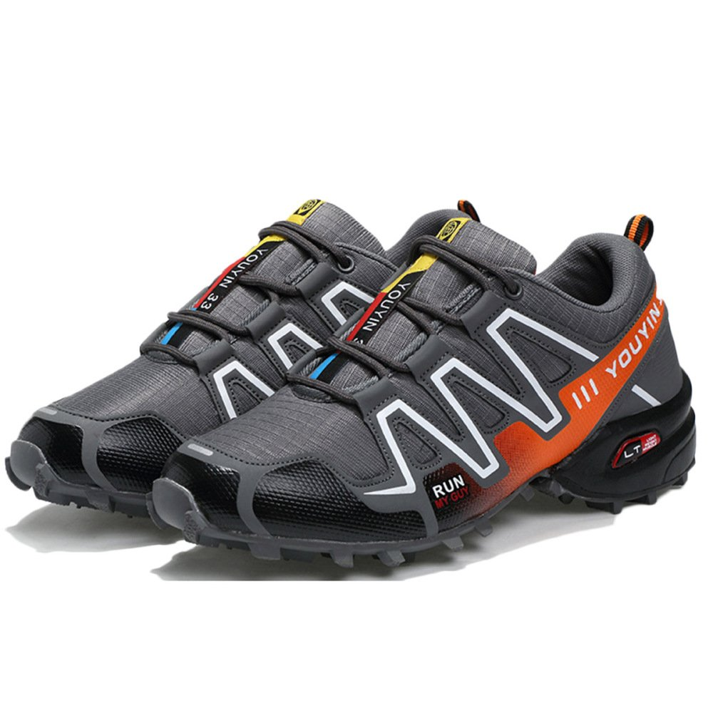 nihiug Wanderschuhe Herren Wasserdichte Knöchel Leichte Outdoor Schuhe Rutschfeste Cross Country Laufbekleidung Schuhe