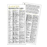 25 4x9 Essential Oil Reference Cards, For Doterra or Young Living YL Distributor Bussiness Marketing Supplies, Educational Guide Sheet Charts Beginners, Book Mark, Guidebook Handbook Quick Mini Manual