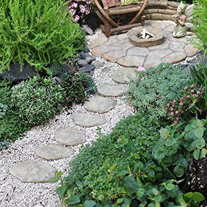 Amazon.com : Miniature Fairy Garden Fairy Patio Pavers, Set of 7 ...
